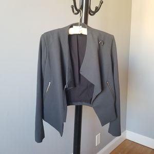 🥳 Helmut Lang Asymmetrical Grey Utility Jacket